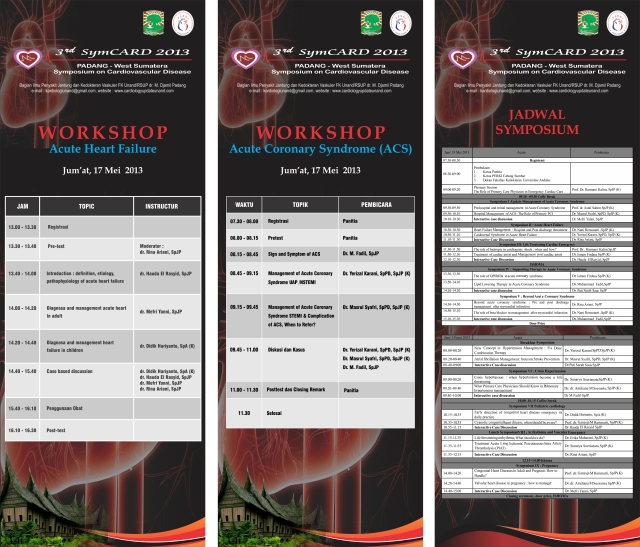 JADWAL SYMPOSIUM DAN WORKSHOP SymCARD 2013