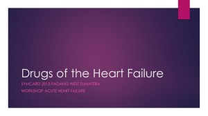 Drug's of the Heart Failure pengenceran