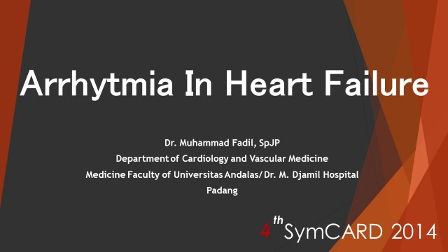 1 aritmia in heart failure dr fadil